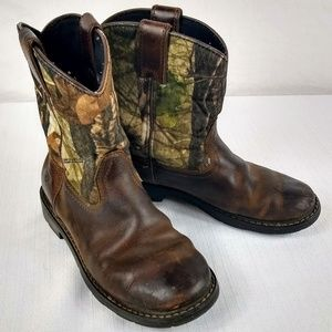 Ariat Sierra Camo Youth Cowboy Boots